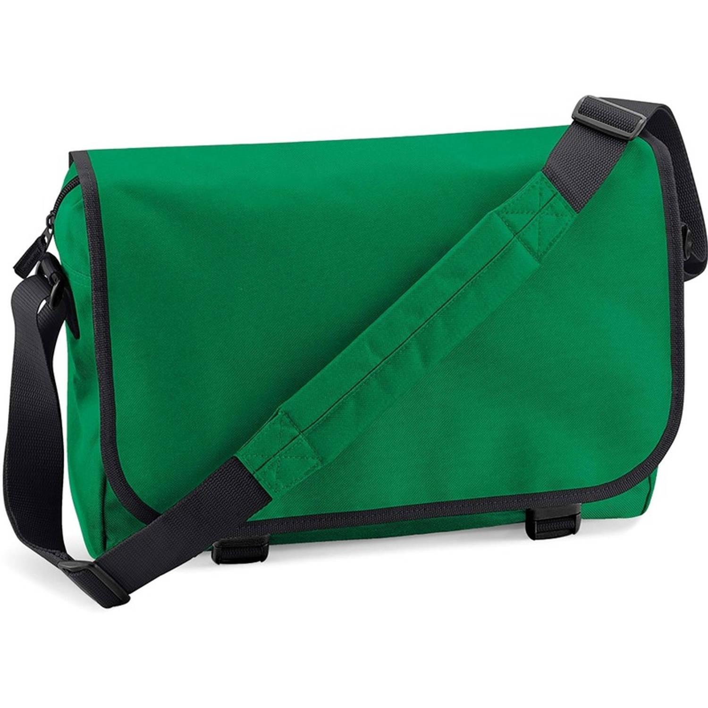 Schoudertas-aktetas groen 41 cm voor dames-heren Schooltassen-laptop tassen met schouderband