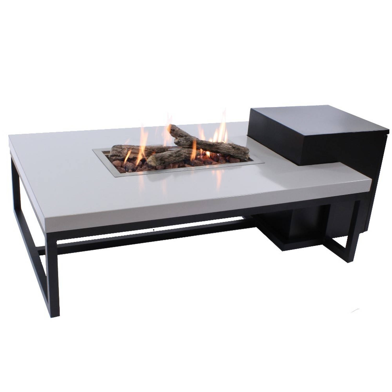 Enjoyfires Vuurtafel Ambiance Rechthoek Zwart-grijs 120x80x35 Cm