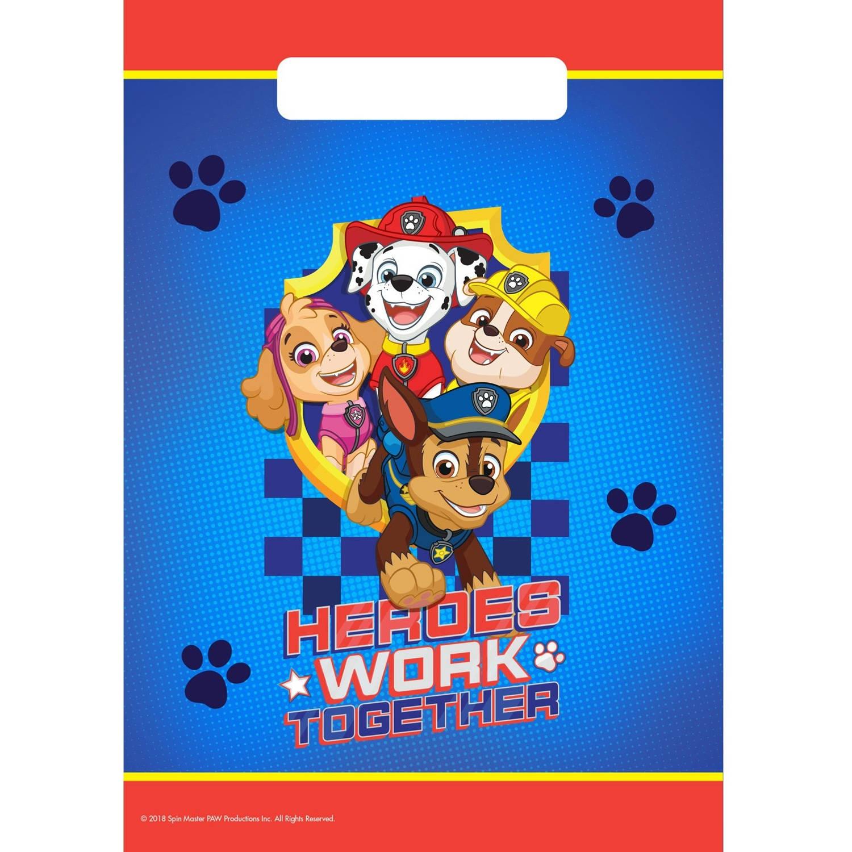 Korting Nickelodeon Uitdeelzakjes Paw Patrol 8 Stuks 23 Cm Rood blauw