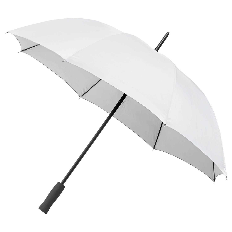 Korting Falcone paraplu reflectie automatisch 103 cm wit