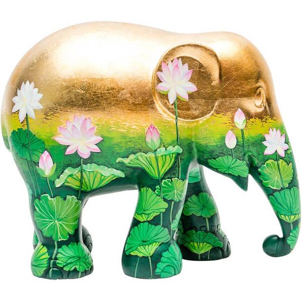 Elephant Parade Golden Lotus - Handgemaakt Olifantenstandbeeld - 15 cm