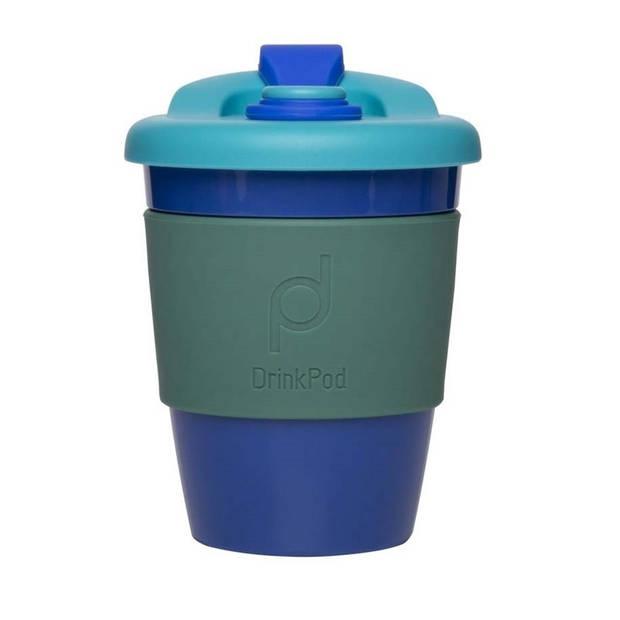 Herbruikbare Koffiebeker - 340ml - Oceaan Blauw - Kunststof - Pioneer
