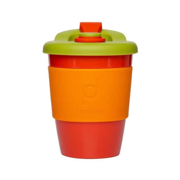 Herbruikbare Koffiebeker - 340ml - Autumn Orange - Kunststof - Pioneer