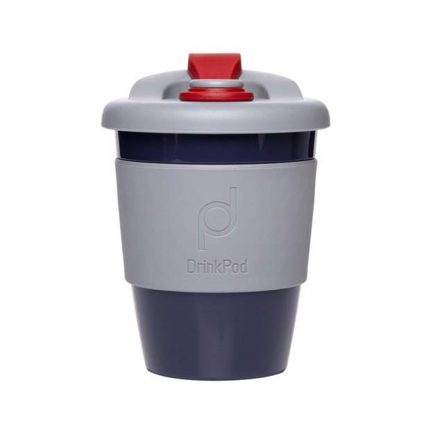 Herbruikbare Koffiebeker - 340ml - Storm Grey - Kunststof - Pioneer