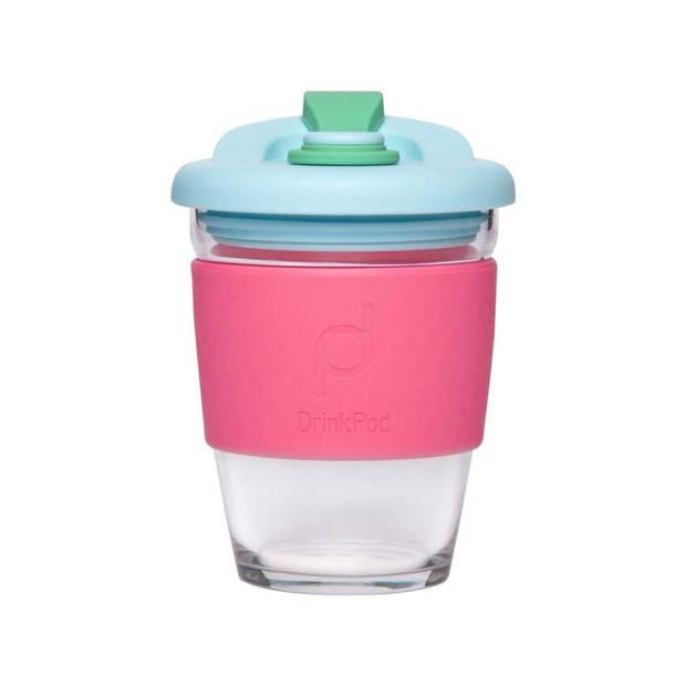 Herbruikbare Koffiebeker - 340ml - Laguna Rosa - Glas - Pioneer
