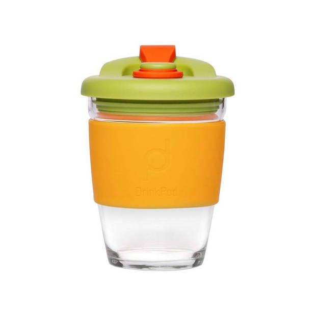 Herbruikbare Koffiebeker - 340ml - Autumn Orange - Glas - Pioneer