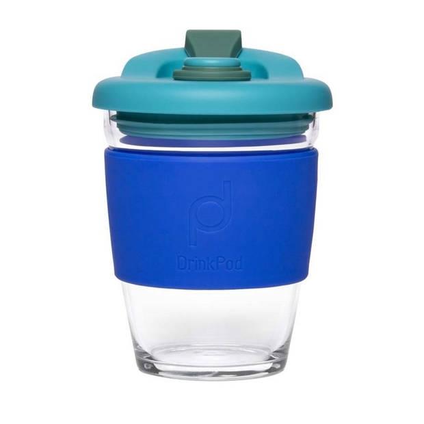 Herbruikbare Koffiebeker - 340ml - Oceaan Blauw - Glas - Pioneer