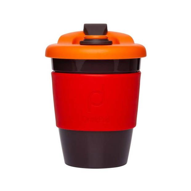 Herbruikbare Koffiebeker - 340ml - Vulcano Red - Kunststof - Pioneer