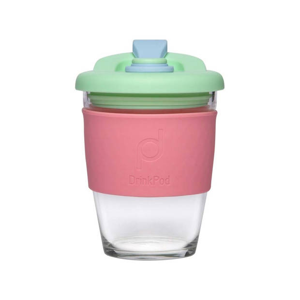 Herbruikbare Koffiebeker - 340ml - Green Dream - Glas - Pioneer