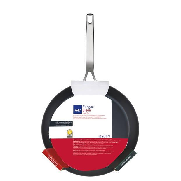 Koekenpan Zwart, 28 cm - Kela Fergus