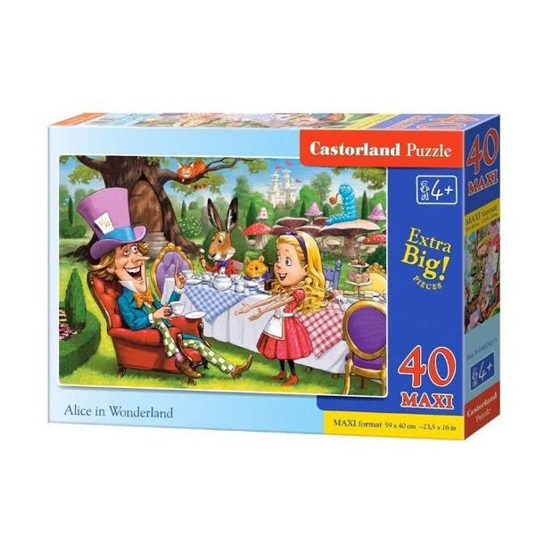 Castorland legpuzzel Alice in Wonderland 40 maxi stukjes