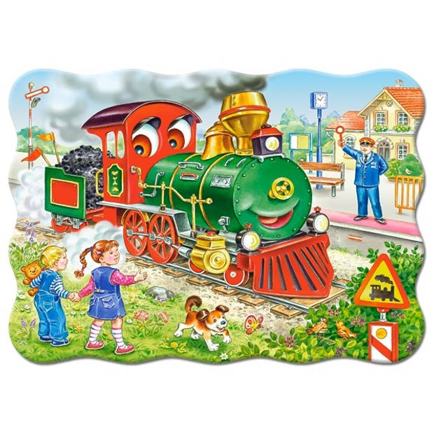 Castorland legpuzzel Green Locomotive 30 stukjes