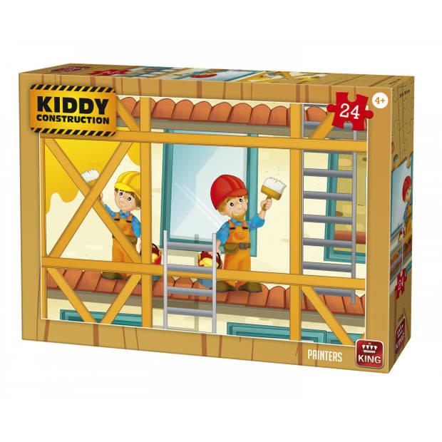 King International legpuzzel Kiddy Construction Painters 24 stukjes