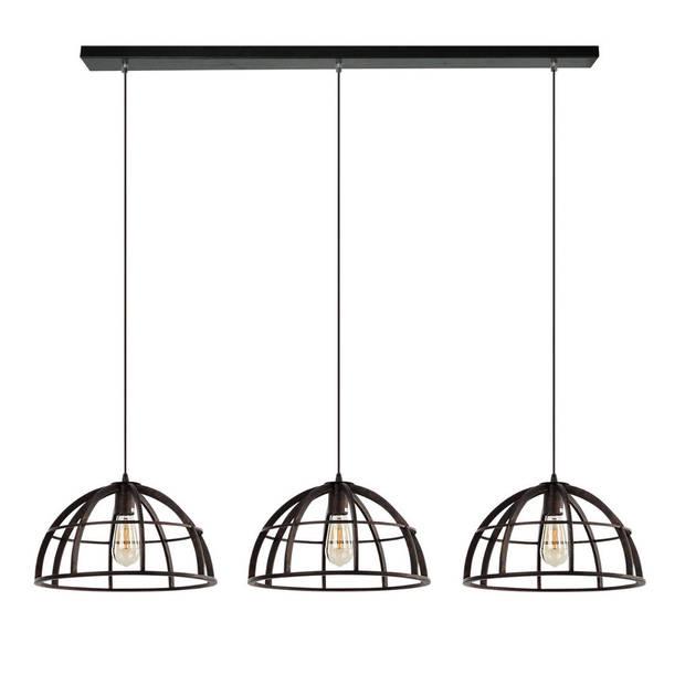 Freelight Hanglamp Ferro 3 lichts zwart goud