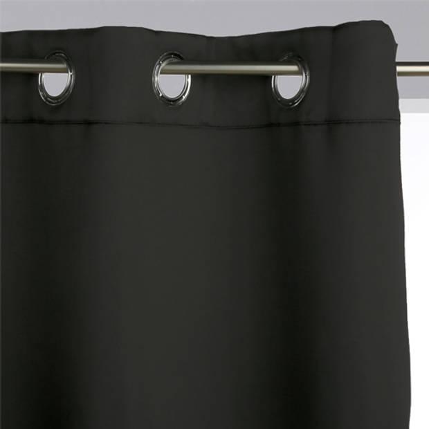Set Van 2 Verduisterende Gordijnen – 135 x 240 cm (BxH) – Zwart