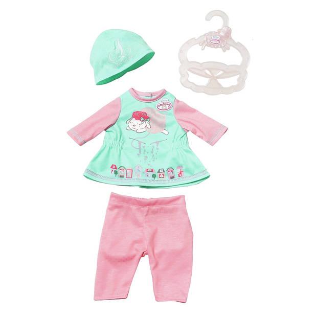 Baby Annabell kledingset voor pop tot 36 cm groen 4-delig