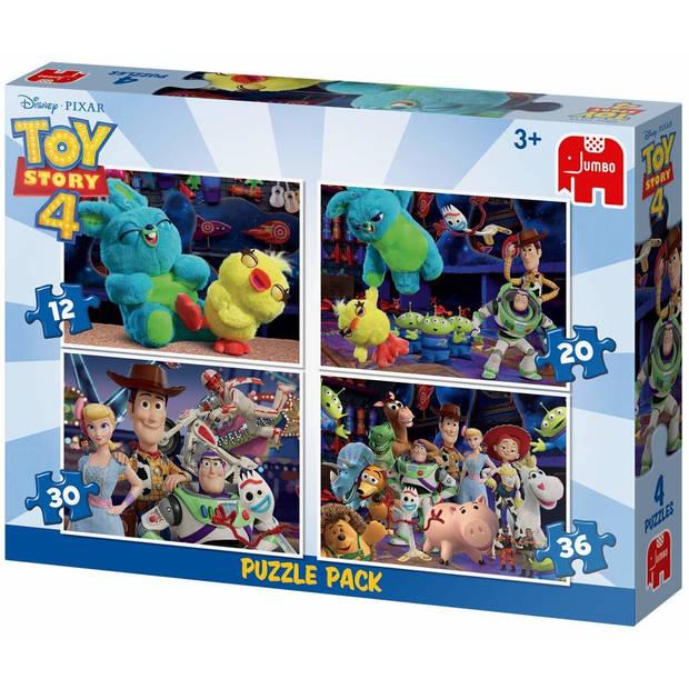 Jumbo legpuzzel 4-in-1 Toy Story 4 12-20-30-36 stukjes