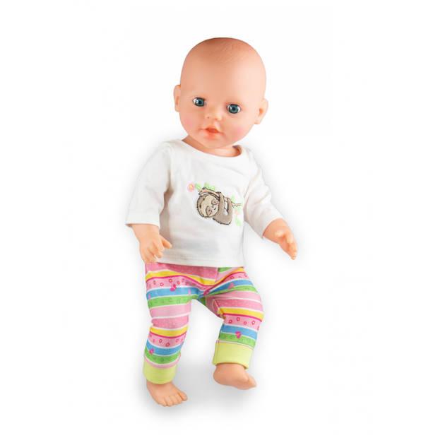 Heless poppenkleding pyjama Luiaard 35-45 cm