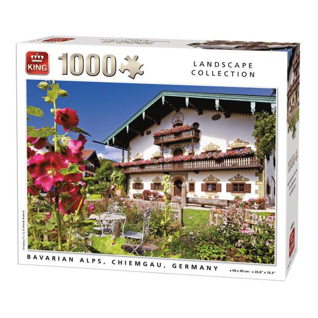 King Legpuzzel Bavarian Alps Duitsland 1000 Stukjes