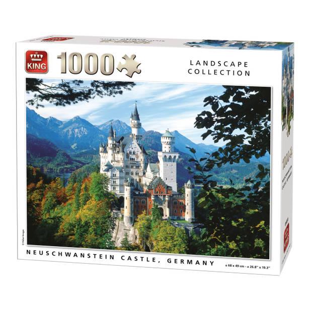 King Legpuzzel Neuschwanstein Castle Duistland 1000 Stukjes