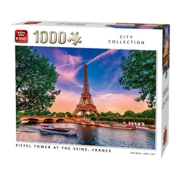 King Legpuzzel Eiffeltoren bij de Seine 1000 Stukjes