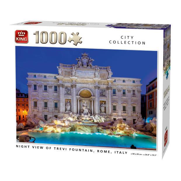King Legpuzzel Trevi Fountain Rome 1000 stukjes