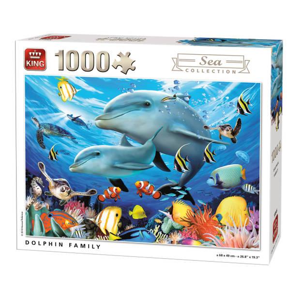 King Legpuzzel Dolfijnen 1000 Stukjes