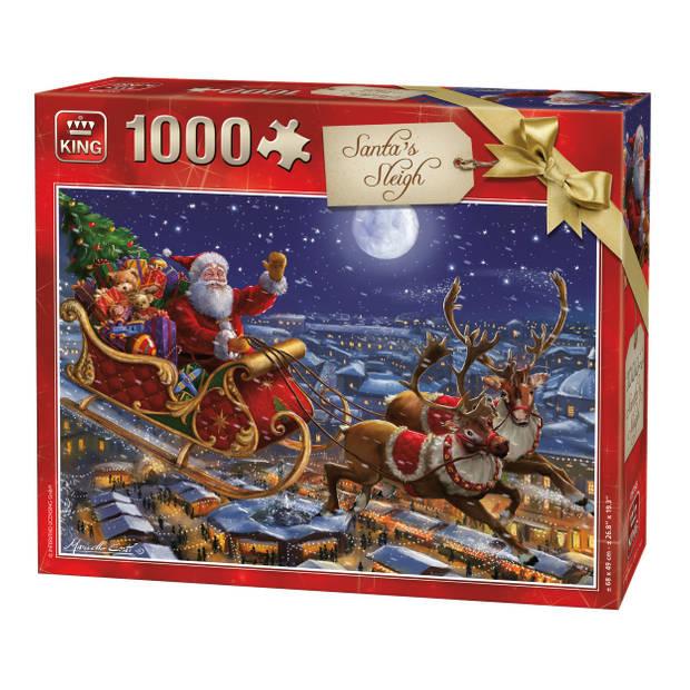 King Puzzel Santa's Sleigh 1000 Stukjes