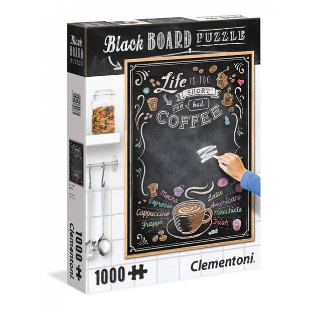 Clementoni krijtbord-puzzel koffie 1000 stukjes
