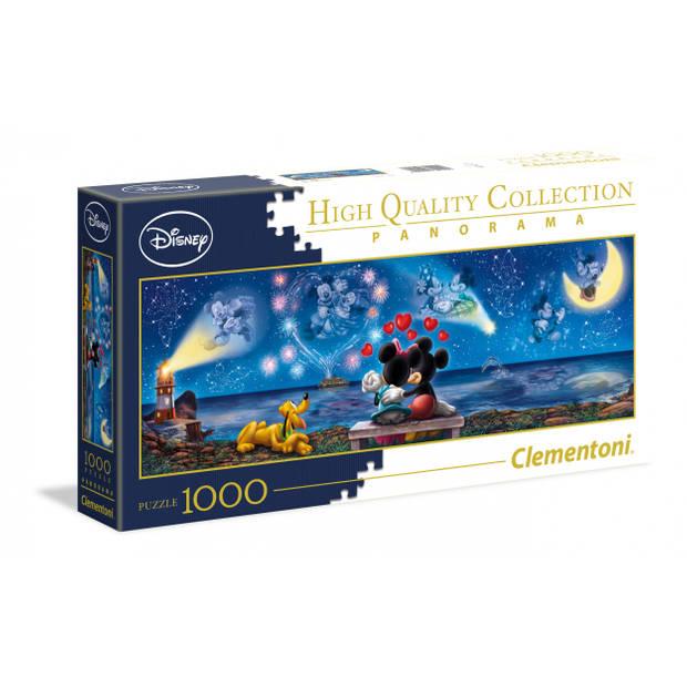 Clementoni puzzel Panorama Disney Mickey en Minnie 1000 stukjes