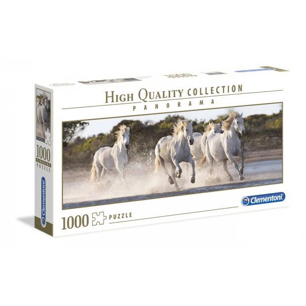 Clementoni puzzel Panorama rennende paarden 1000 stukjes