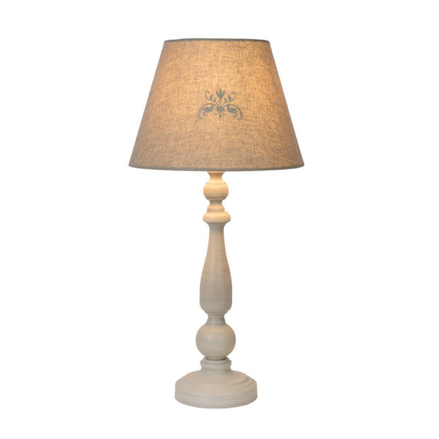 Lucide ROBIN Tafellamp E27 H49cm Kap D25,5-H19,5cm Taupe