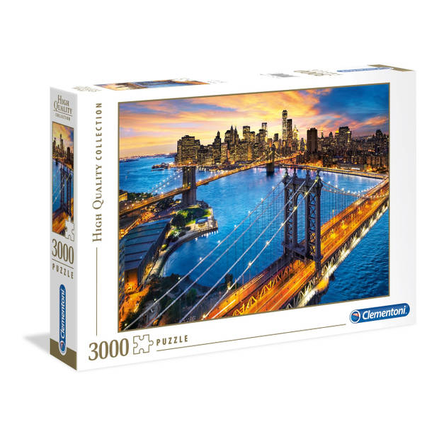 Clementoni puzzel New York 3000 stukjes