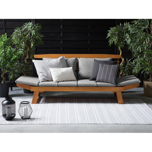 Beliani PORTICI Tuinbank Eucalyptus hout 66 x 210 cm