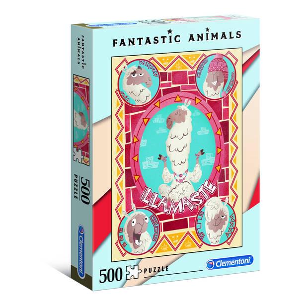 Clementoni puzzel Fantastic Animals 500 stukjes lama