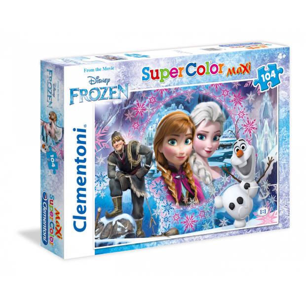 Clementoni legpuzzel SuperColor Frozen 104 stukjes