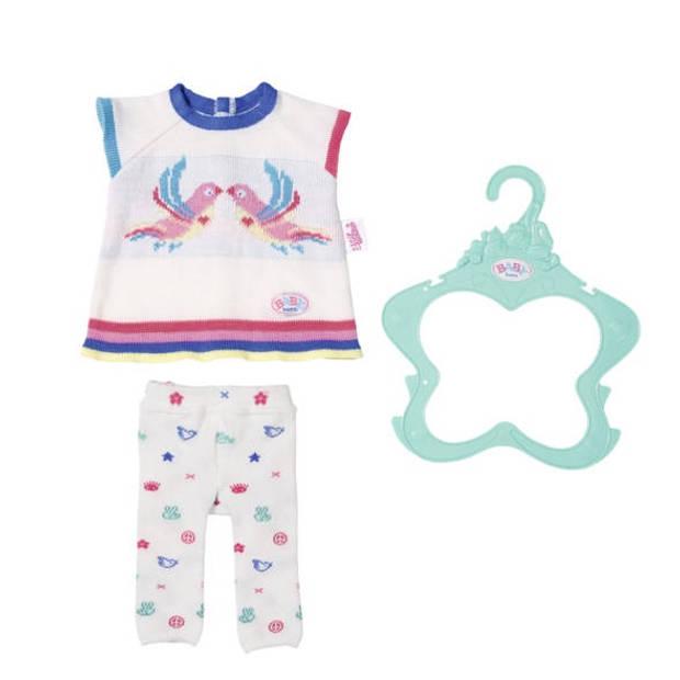 BABY born gebreide kledingset Trend 43 cm wit