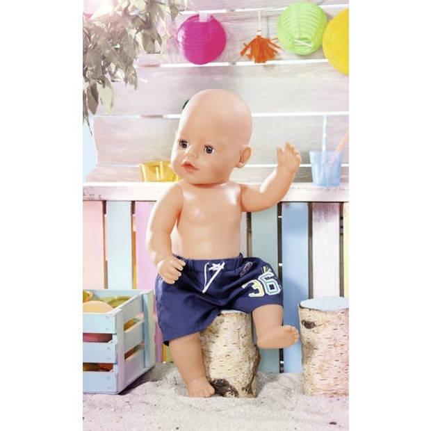 Baby born zwemshort donkerblauw 43 cm