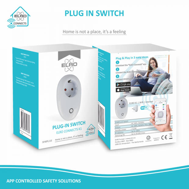 ELRO Connects SF40PL Plug-in Schakelaar