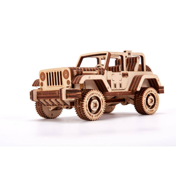 Wood Trick Safari Auto 4x4 - Houten Modelbouw