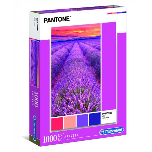 Clementoni legpuzzel Pantone Vivid Viola 1000 stukjes