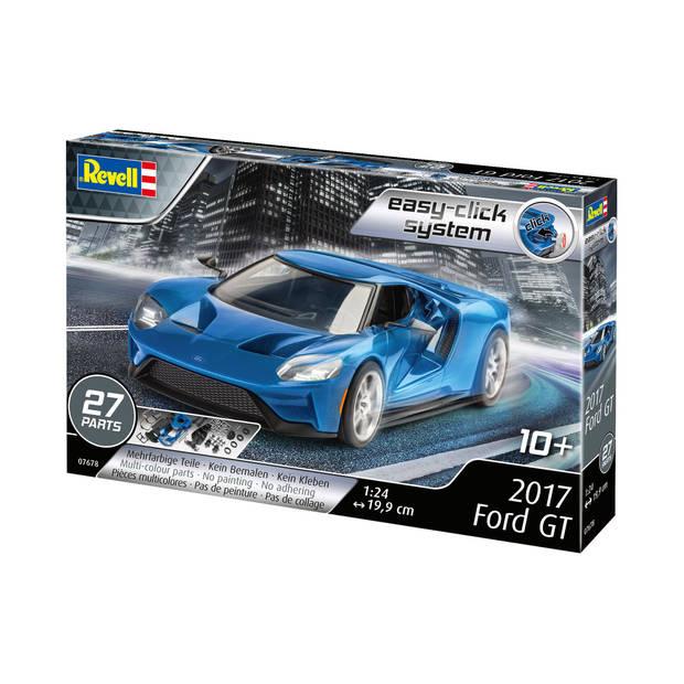 Revell modelbouwset Ford 2017 GT 1:24 blauw 27-delig