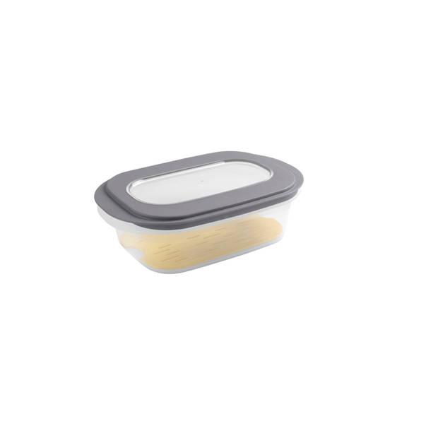 Sigma home Kaasdoos - met anti-condens tray - transp/donker grijs