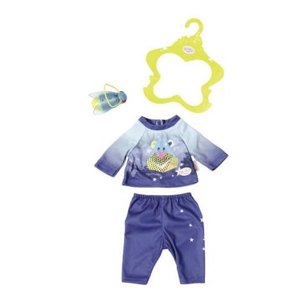 Baby born nachtoutfit Play&Fun 43 cm blauw