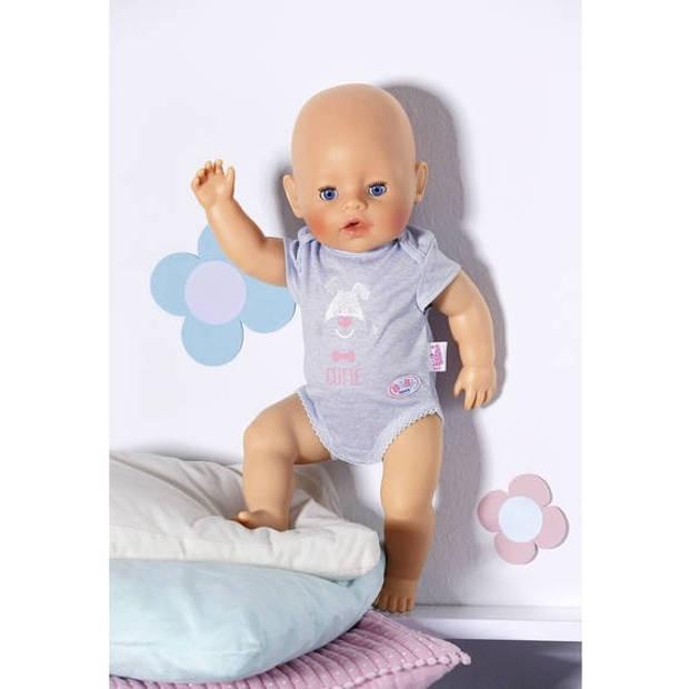 Baby born body 43 cm grijs