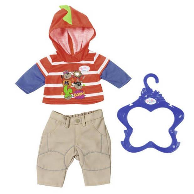 BABY born kledingset jongenscollectie 43 cm rood/beige