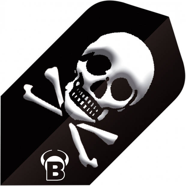 Bull's flights Motex Skull Slim 75 micron zwart