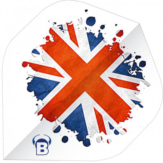 Bull's flights Motex UK A-Standard 75 micron wit