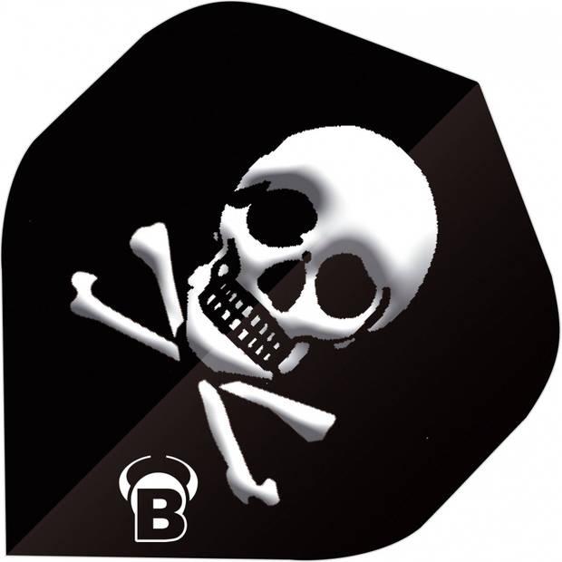 Bull's flights Motex Skull A-Standard 75 micron zwart