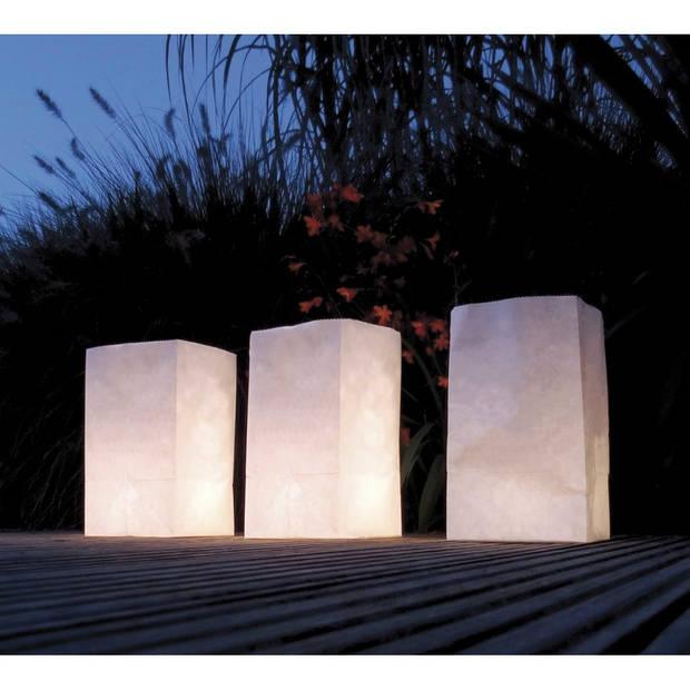 5x Candle Bags set blanco 26 cm